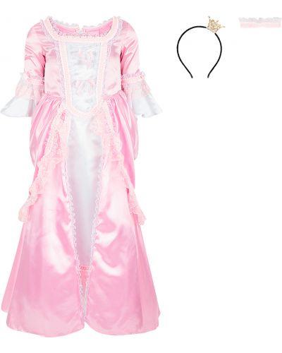 Длинное платье принцессы с оборками пуговка