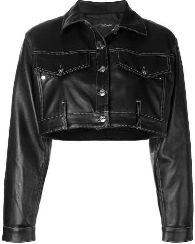 Черный классический пиджак оверсайз с карманами Manokhi