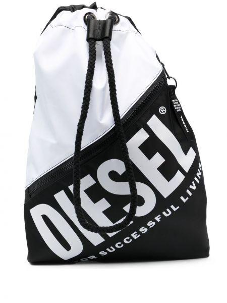 Czarny plecak z printem Diesel