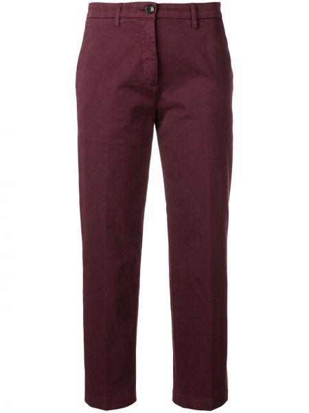 Укороченные брюки бордовый с завышенной талией Department 5