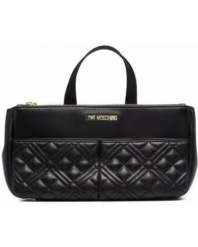 Złota torebka - czarna Love Moschino