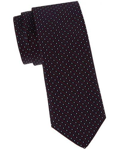 Krawat z jedwabiu z haftem na co dzień Hugo Hugo Boss