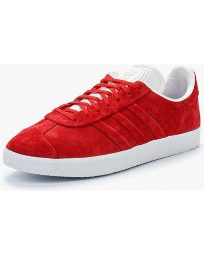 Красные кеды замшевые Adidas Originals