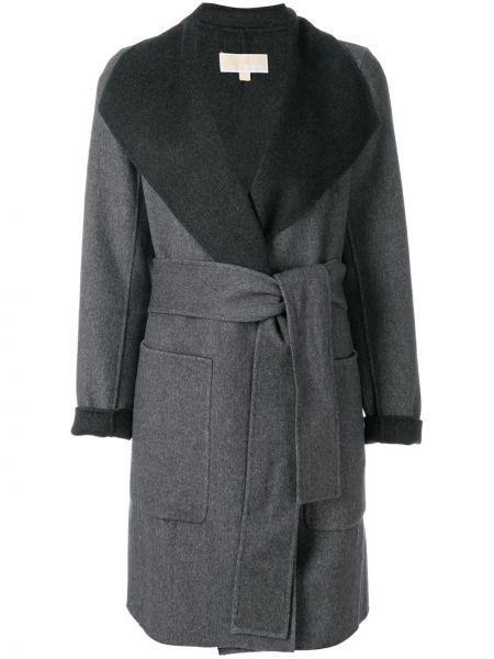 Шерстяное пальто с капюшоном Michael Michael Kors