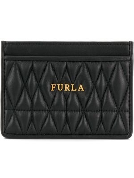 Кожаные футляр для очков - черные Furla