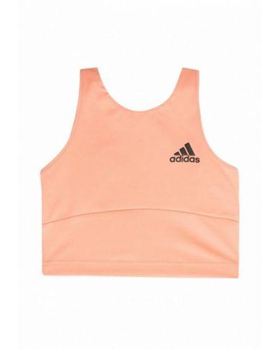 Топ спортивный оранжевый Adidas
