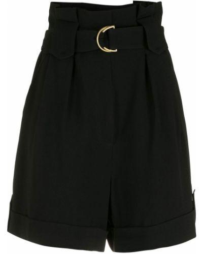 Черные с завышенной талией шорты с поясом Nk