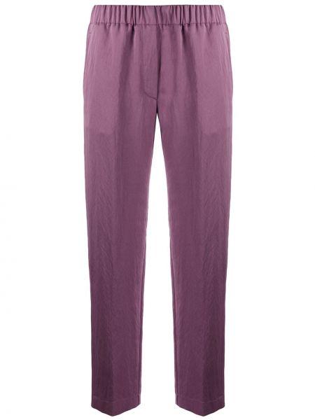 Укороченные брюки с завышенной талией фиолетовые Forte Forte