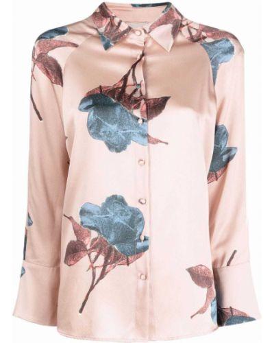 Шелковая рубашка - розовая Lautre Chose