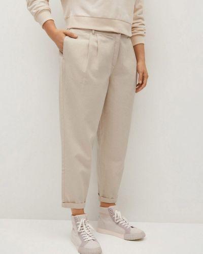 Бежевые классические брюки Violeta By Mango