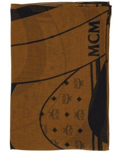 Brązowy szalik Mcm