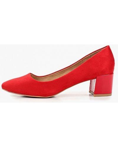 Туфли на каблуке красные замшевые Kylie