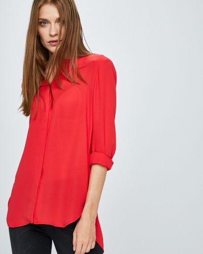 Блузка с длинным рукавом с V-образным вырезом прямая Vila