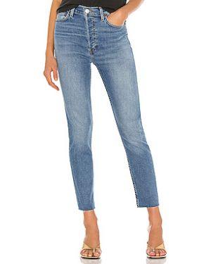 Хлопковые джинсы-скинни с пайетками на пуговицах скинни Re/done