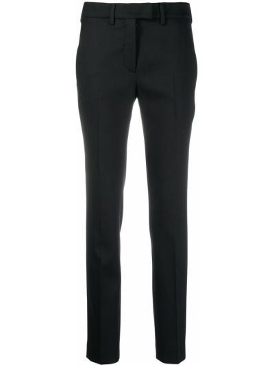 Шерстяные черные брюки с карманами Incotex