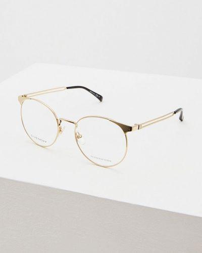 Оправа круглая золотого цвета Givenchy