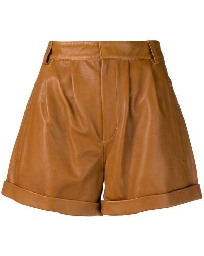 Коричневые шорты с карманами Federica Tosi
