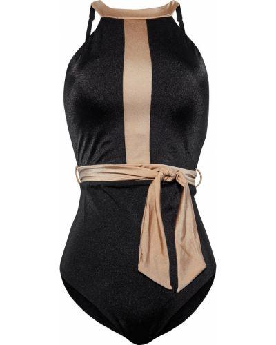 Czarny strój kąpielowy z paskiem z nylonu Jets Australia By Jessika Allen