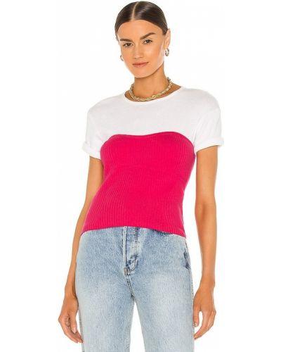 Трикотажный розовый топ винтажный Line & Dot