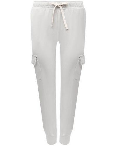 Хлопковые серые брюки Monrow