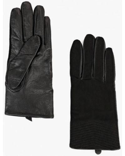 Черные кожаные перчатки United Colors Of Benetton