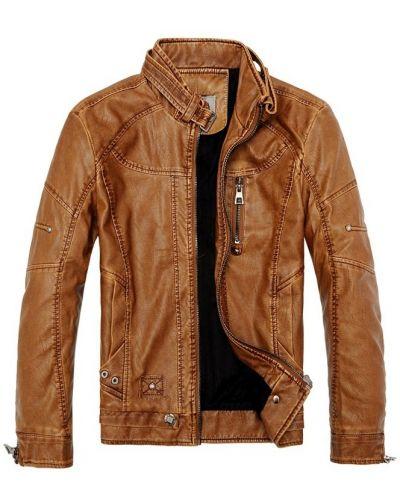 Кожаная куртка с воротником Vsp