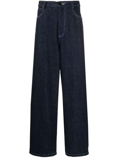 Beżowe jeansy bawełniane perły Goodfight