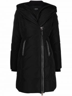 Czarny długi płaszcz wełniany Mackage