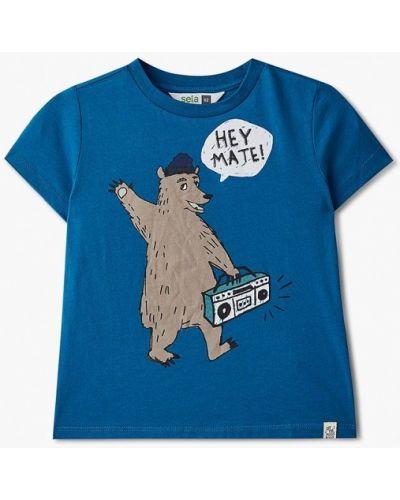 Синяя футболка с короткими рукавами Sela