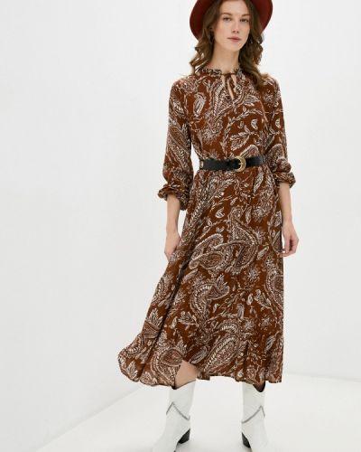 Коричневое прямое платье B.young