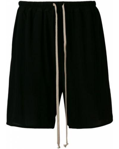 Черные шорты с карманами Rick Owens Lilies