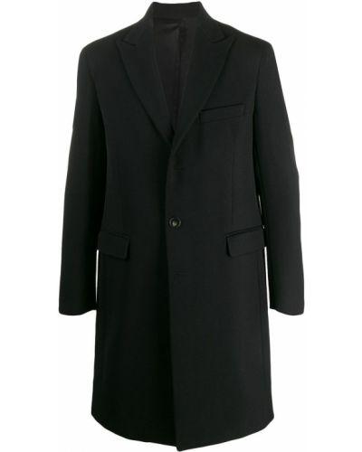 Приталенное однобортное шерстяное длинное пальто на молнии Harmony Paris