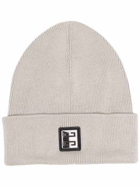 Серая шапка с логотипом Givenchy