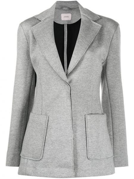 С рукавами серый пиджак с карманами с лацканами Dorothee Schumacher