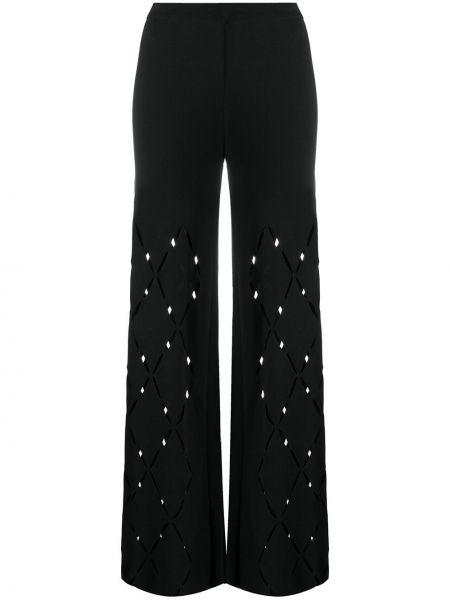 Шелковые черные с завышенной талией брюки Mrz