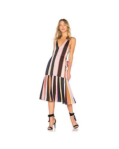 Платье миди вязаное летнее со складками Apiece Apart