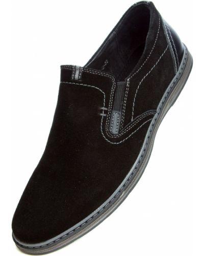 Кожаные туфли - черные Kangfu