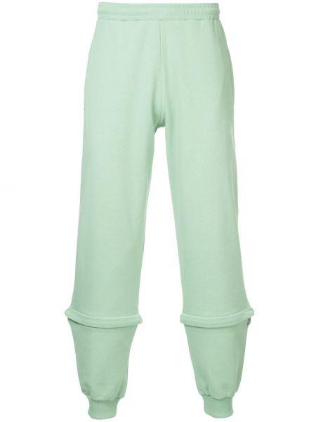 Zielone spodnie bawełniane z siateczką Cottweiler