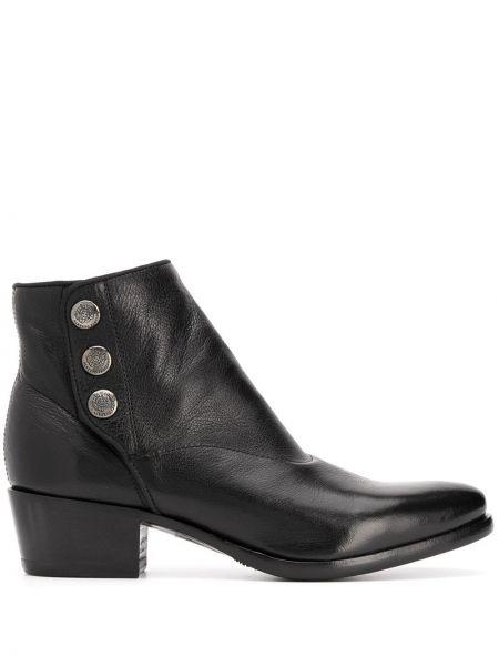 Массивные однобортные черные ботинки на каблуке на каблуке Alberto Fasciani