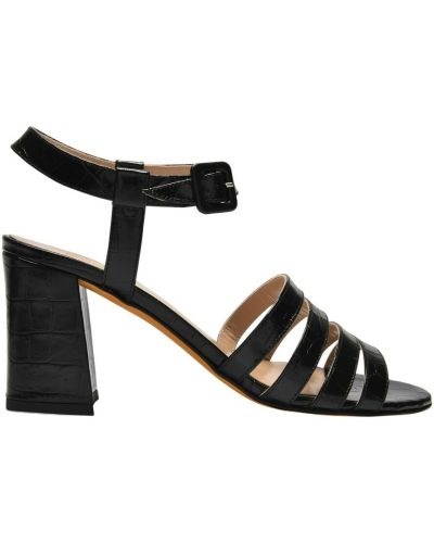 Sandały skórzane - czarne Maryam Nassir Zadeh