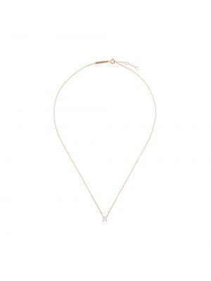 Biały złoty naszyjnik łańcuch z diamentem Delfina Delettrez
