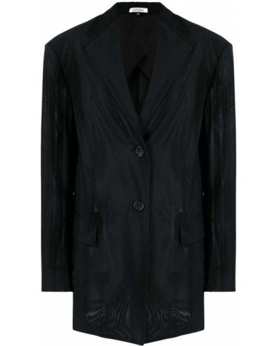 Однобортный черный удлиненный пиджак на пуговицах Krizia