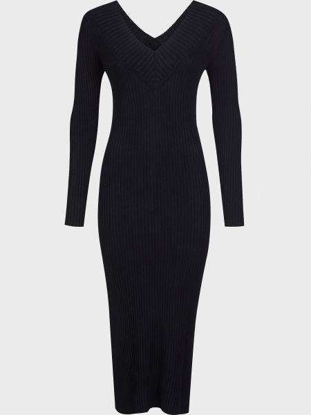 Платье из вискозы - черное Vicolo