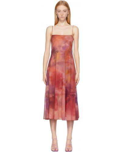 Sukienka w kratę - różowa Collina Strada