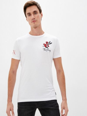 Белая футболка с короткими рукавами Replay