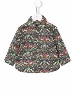 Хлопковая с рукавами классическая рубашка с воротником Babe And Tess