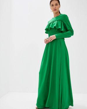 Платье прямое зеленый Sahera Rahmani