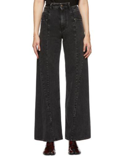 Асимметричные черные джинсы стрейч Maison Margiela