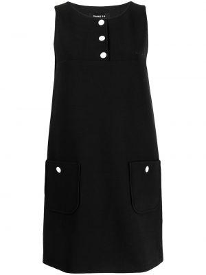 Платье мини трапеция - черное Paule Ka