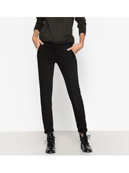 Базовые хлопковые черные брюки с карманами Reiko